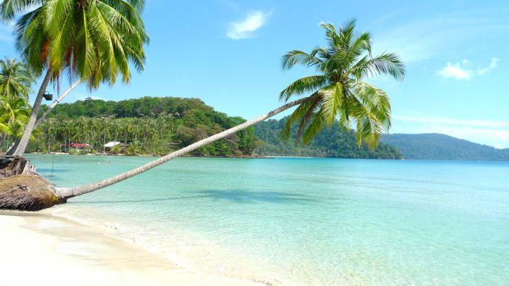 secluded beach island