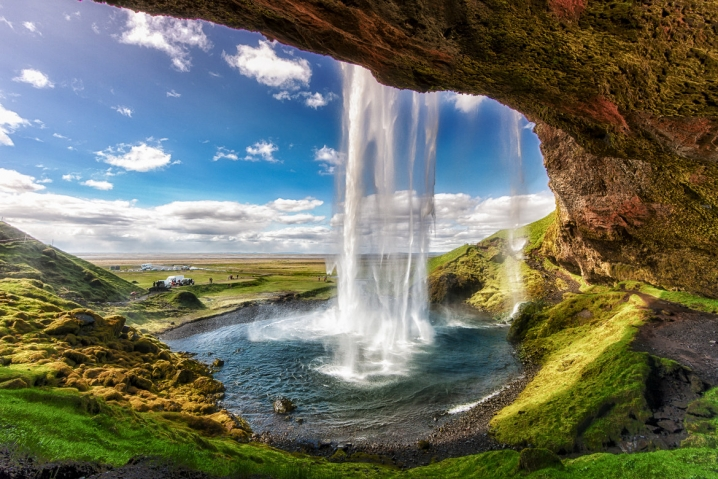 most photographed waterfall in Iceland