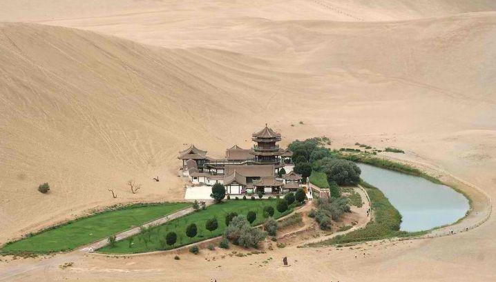 Crescent Lake Gobi Desert