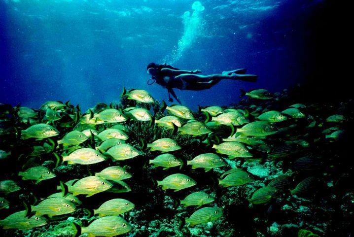 140 feet deep water