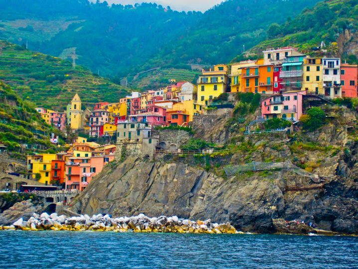 colorful coastal villages