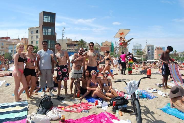 teens at the beach